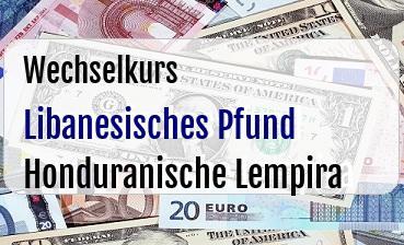 Libanesisches Pfund in Honduranische Lempira