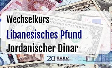 Libanesisches Pfund in Jordanischer Dinar