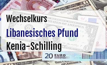 Libanesisches Pfund in Kenia-Schilling