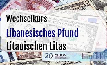 Libanesisches Pfund in Litauischen Litas