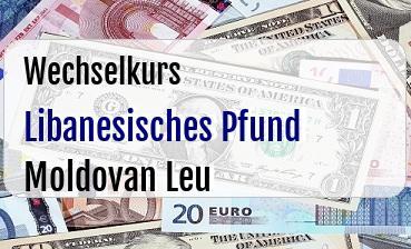 Libanesisches Pfund in Moldovan Leu