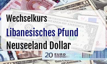 Libanesisches Pfund in Neuseeland Dollar