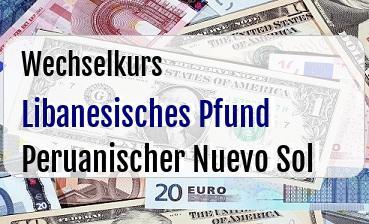 Libanesisches Pfund in Peruanischer Nuevo Sol
