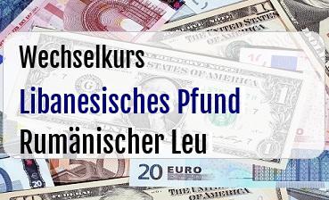 Libanesisches Pfund in Rumänischer Leu