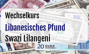 Libanesisches Pfund in Swazi Lilangeni