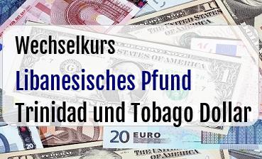 Libanesisches Pfund in Trinidad und Tobago Dollar