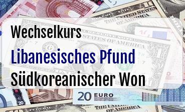 Libanesisches Pfund in Südkoreanischer Won