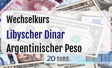 Libyscher Dinar in Argentinischer Peso