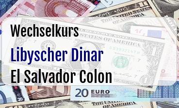 Libyscher Dinar in El Salvador Colon