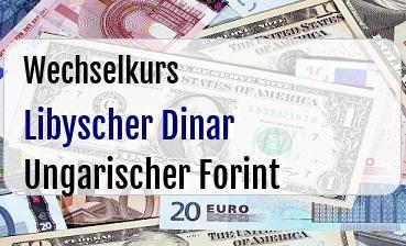 Libyscher Dinar in Ungarischer Forint