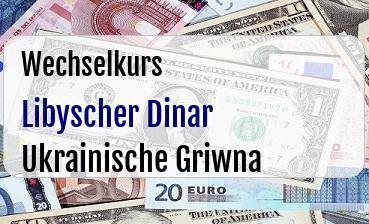 Libyscher Dinar in Ukrainische Griwna