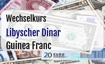 Libyscher Dinar in Guinea Franc