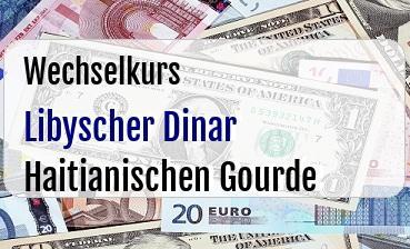 Libyscher Dinar in Haitianischen Gourde
