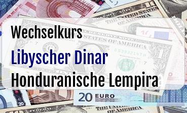 Libyscher Dinar in Honduranische Lempira