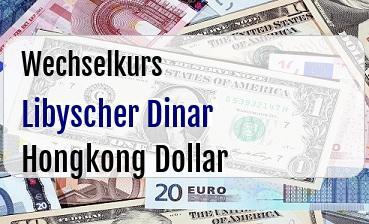 Libyscher Dinar in Hongkong Dollar
