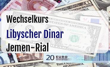Libyscher Dinar in Jemen-Rial