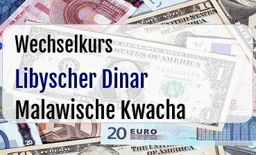 Libyscher Dinar in Malawische Kwacha