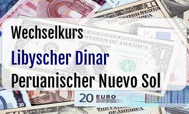 Libyscher Dinar in Peruanischer Nuevo Sol
