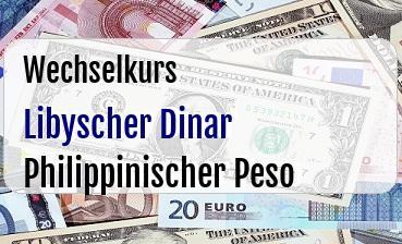 Libyscher Dinar in Philippinischer Peso