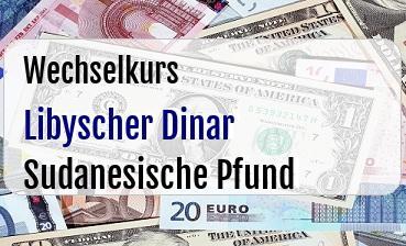 Libyscher Dinar in Sudanesische Pfund