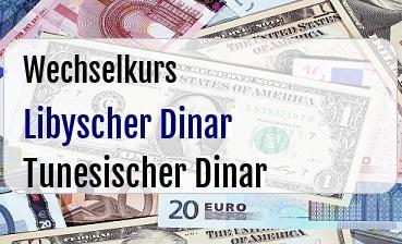 Libyscher Dinar in Tunesischer Dinar