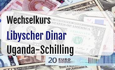 Libyscher Dinar in Uganda-Schilling