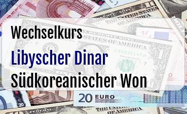 Libyscher Dinar in Südkoreanischer Won