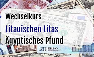 Litauischen Litas in Ägyptisches Pfund