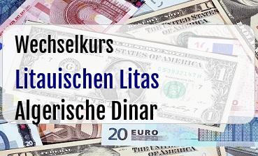 Litauischen Litas in Algerische Dinar