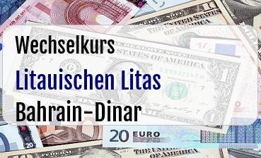 Litauischen Litas in Bahrain-Dinar