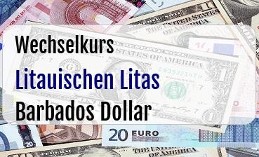 Litauischen Litas in Barbados Dollar
