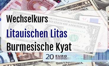 Litauischen Litas in Burmesische Kyat
