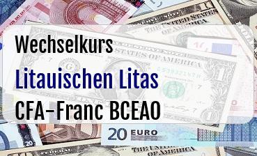 Litauischen Litas in CFA-Franc BCEAO