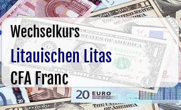 Litauischen Litas in CFA Franc