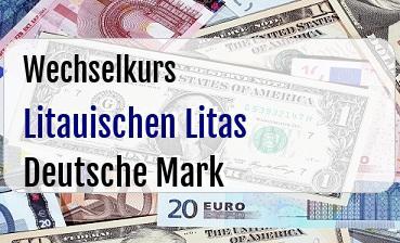 Litauischen Litas in Deutsche Mark