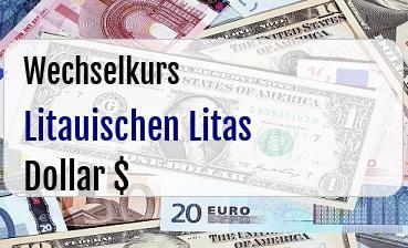 Litauischen Litas in US Dollar