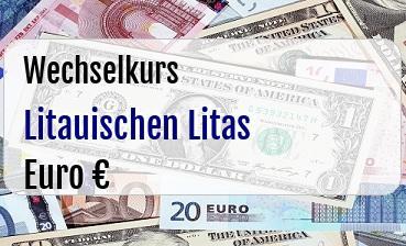 Litauischen Litas in Euro
