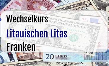 Litauischen Litas in Schweizer Franken