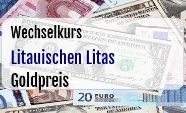 Litauischen Litas in Goldpreis