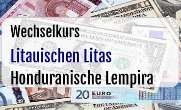 Litauischen Litas in Honduranische Lempira
