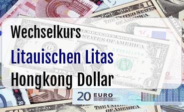 Litauischen Litas in Hongkong Dollar