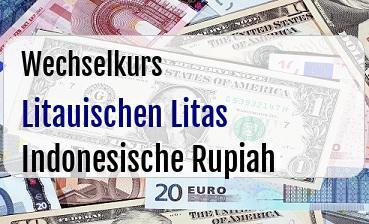 Litauischen Litas in Indonesische Rupiah