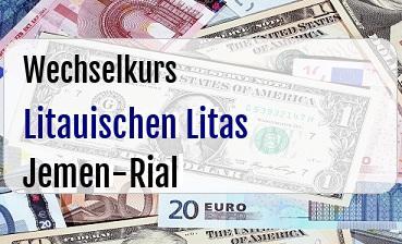 Litauischen Litas in Jemen-Rial