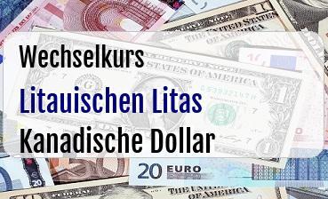 Litauischen Litas in Kanadische Dollar