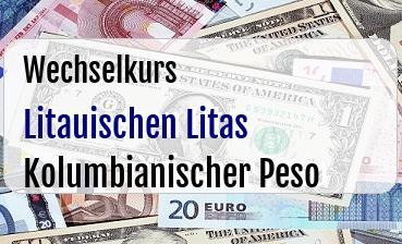 Litauischen Litas in Kolumbianischer Peso