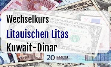 Litauischen Litas in Kuwait-Dinar