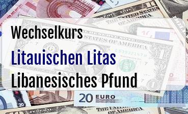 Litauischen Litas in Libanesisches Pfund