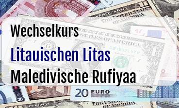 Litauischen Litas in Maledivische Rufiyaa