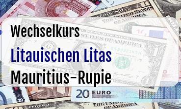 Litauischen Litas in Mauritius-Rupie