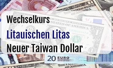 Litauischen Litas in Neuer Taiwan Dollar